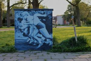 Bordineweg, Leeuwarden 7 mei 2016. Kunstwerk en foto - Roy Schreuder